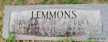 LEMMONS, UVA L - Randolph County, Arkansas | UVA L LEMMONS - Arkansas Gravestone Photos