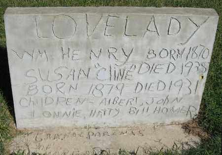 LOVELADY, SUSAN - Randolph County, Arkansas | SUSAN LOVELADY - Arkansas Gravestone Photos