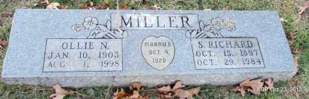 MILLER, OLLIE N - Randolph County, Arkansas | OLLIE N MILLER - Arkansas Gravestone Photos