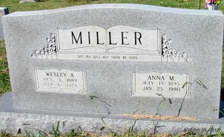 MILLER, ANNA M - Randolph County, Arkansas   ANNA M MILLER - Arkansas Gravestone Photos