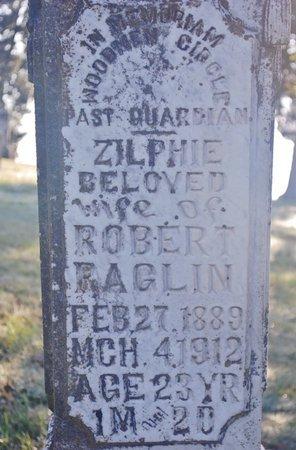 RAGLIN, ZILPHIE (CLOSE UP) - Randolph County, Arkansas | ZILPHIE (CLOSE UP) RAGLIN - Arkansas Gravestone Photos