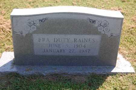 DUTY RAINES, ERA - Randolph County, Arkansas   ERA DUTY RAINES - Arkansas Gravestone Photos