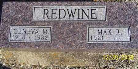 REDWINE, GENEVA M. - Randolph County, Arkansas   GENEVA M. REDWINE - Arkansas Gravestone Photos