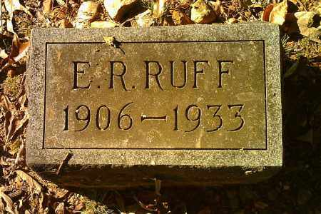 RUFF, E. R. - Randolph County, Arkansas | E. R. RUFF - Arkansas Gravestone Photos