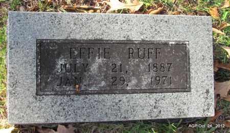RUFF, EFFIE - Randolph County, Arkansas | EFFIE RUFF - Arkansas Gravestone Photos