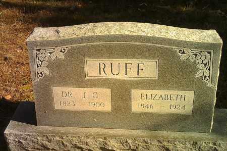 RUFF, ELIZABETH - Randolph County, Arkansas | ELIZABETH RUFF - Arkansas Gravestone Photos