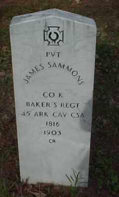 SAMMONS (VETERAN CSA), JAMES - Randolph County, Arkansas | JAMES SAMMONS (VETERAN CSA) - Arkansas Gravestone Photos