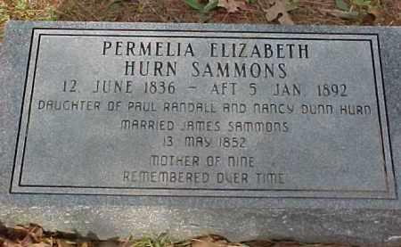 SAMMONS, PERMILIA ELIZABETH - Randolph County, Arkansas | PERMILIA ELIZABETH SAMMONS - Arkansas Gravestone Photos