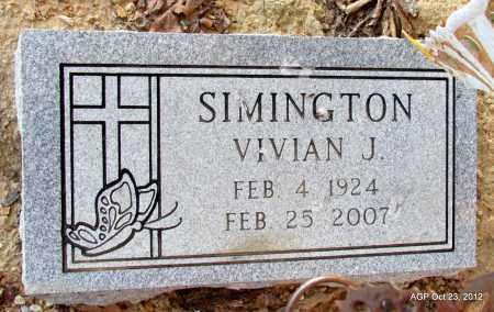 SIMINGTON, VIVIAN J - Randolph County, Arkansas | VIVIAN J SIMINGTON - Arkansas Gravestone Photos