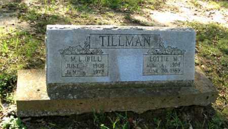 TILLMAN, LOTTIE M. - Randolph County, Arkansas | LOTTIE M. TILLMAN - Arkansas Gravestone Photos
