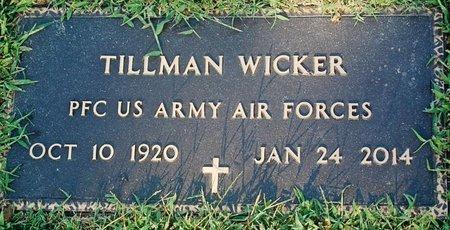 WICKER (VETERAN), TILLMAN - Randolph County, Arkansas | TILLMAN WICKER (VETERAN) - Arkansas Gravestone Photos