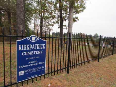 *KIRKPATRICK CEMETERY,  - Saline County, Arkansas |  *KIRKPATRICK CEMETERY - Arkansas Gravestone Photos