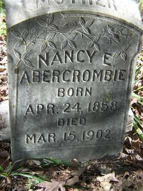 ABERCROMBIE, NANCY E. - Saline County, Arkansas   NANCY E. ABERCROMBIE - Arkansas Gravestone Photos