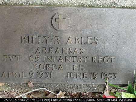 ABLES (VETERAN KOR), BILLY R - Saline County, Arkansas | BILLY R ABLES (VETERAN KOR) - Arkansas Gravestone Photos
