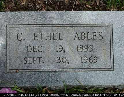 ABLES, C. ETHEL - Saline County, Arkansas | C. ETHEL ABLES - Arkansas Gravestone Photos