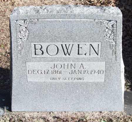 BOWEN, JOHN A. - Saline County, Arkansas   JOHN A. BOWEN - Arkansas Gravestone Photos