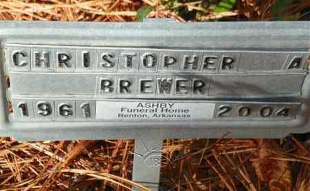 BREWER, CHRISTOPHER A - Saline County, Arkansas | CHRISTOPHER A BREWER - Arkansas Gravestone Photos