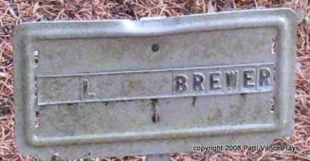 BREWER, L. - Saline County, Arkansas | L. BREWER - Arkansas Gravestone Photos