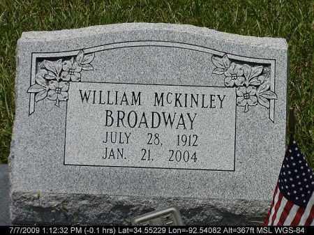 BROADWAY, WILLIAM MCKINLEY - Saline County, Arkansas | WILLIAM MCKINLEY BROADWAY - Arkansas Gravestone Photos
