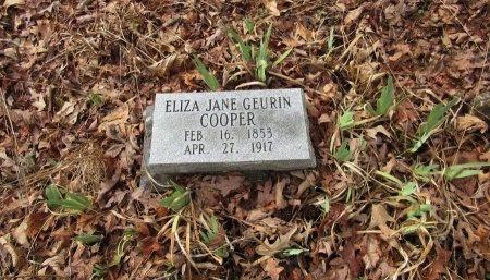 GEURIN COOPER, ELIZA JANE - Saline County, Arkansas | ELIZA JANE GEURIN COOPER - Arkansas Gravestone Photos