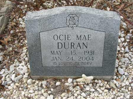 DURAN, OCIE MAE - Saline County, Arkansas | OCIE MAE DURAN - Arkansas Gravestone Photos