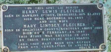 FLETCHER, HENRY LEWIS (CLOSEUP) - Saline County, Arkansas | HENRY LEWIS (CLOSEUP) FLETCHER - Arkansas Gravestone Photos