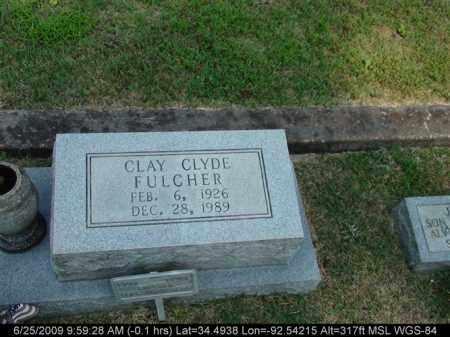 FULCHER, CLAY CLYDE - Saline County, Arkansas   CLAY CLYDE FULCHER - Arkansas Gravestone Photos