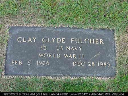 FULCHER (VETERAN WWII), CLAY CLYDE - Saline County, Arkansas | CLAY CLYDE FULCHER (VETERAN WWII) - Arkansas Gravestone Photos