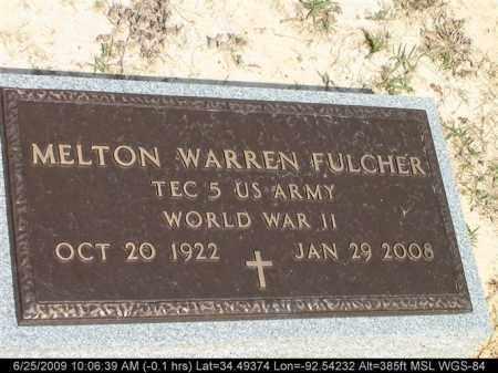 FULCHER (VETERAN WWII), MELTON WARREN - Saline County, Arkansas   MELTON WARREN FULCHER (VETERAN WWII) - Arkansas Gravestone Photos