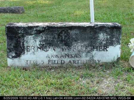 FULCHER (VETERAN), VERNON W - Saline County, Arkansas   VERNON W FULCHER (VETERAN) - Arkansas Gravestone Photos