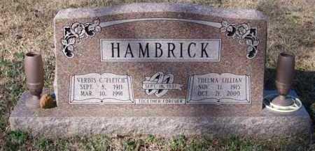 RICKS HAMBRICK, THELMA LILLIAN - Saline County, Arkansas | THELMA LILLIAN RICKS HAMBRICK - Arkansas Gravestone Photos