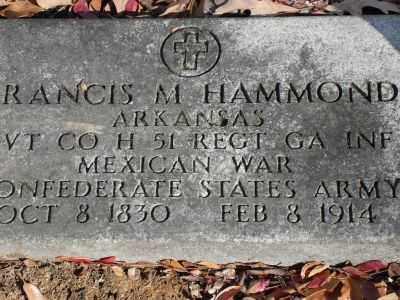 HAMMOND (VETERAN 2 WARS), FRANCIS M - Saline County, Arkansas | FRANCIS M HAMMOND (VETERAN 2 WARS) - Arkansas Gravestone Photos