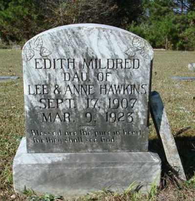HAWKINS, EDITH MILDRED - Saline County, Arkansas | EDITH MILDRED HAWKINS - Arkansas Gravestone Photos