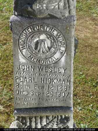 HICKMAN, JOHN WESLEY - Saline County, Arkansas | JOHN WESLEY HICKMAN - Arkansas Gravestone Photos