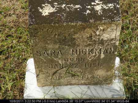 HICKMAN, SARA - Saline County, Arkansas | SARA HICKMAN - Arkansas Gravestone Photos