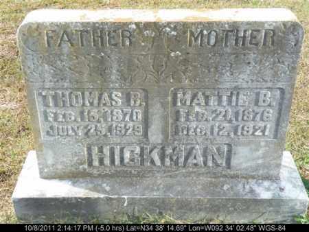 HICKMAN, THOMAS B - Saline County, Arkansas | THOMAS B HICKMAN - Arkansas Gravestone Photos