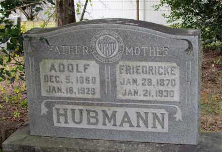 HUBMANN, ADOLF - Saline County, Arkansas | ADOLF HUBMANN - Arkansas Gravestone Photos