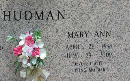 HUDMAN, MARY ANN - Saline County, Arkansas | MARY ANN HUDMAN - Arkansas Gravestone Photos