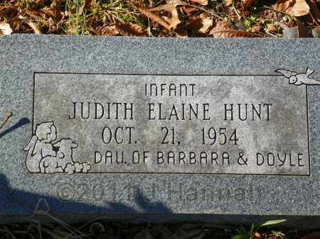 HUNT, JUDITH ELAINE - Saline County, Arkansas | JUDITH ELAINE HUNT - Arkansas Gravestone Photos