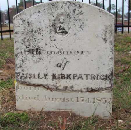 KIRKPATRICK, PAISLEY - Saline County, Arkansas | PAISLEY KIRKPATRICK - Arkansas Gravestone Photos