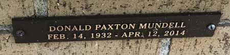 MUNDELL, DONALD PAXTON - Saline County, Arkansas | DONALD PAXTON MUNDELL - Arkansas Gravestone Photos