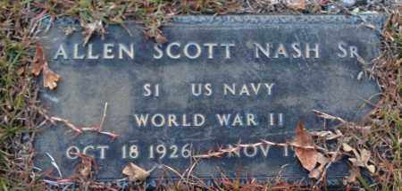 NASH, SR (VETERAN WWII), ALLEN SCOTT - Saline County, Arkansas | ALLEN SCOTT NASH, SR (VETERAN WWII) - Arkansas Gravestone Photos