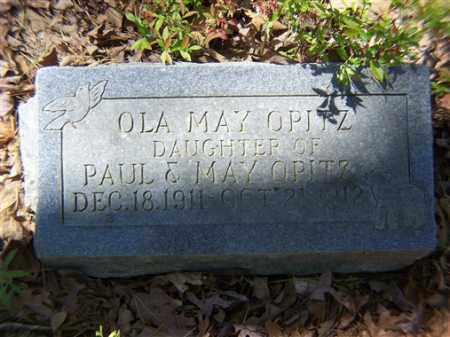OPITZ, OLA MAY - Saline County, Arkansas   OLA MAY OPITZ - Arkansas Gravestone Photos