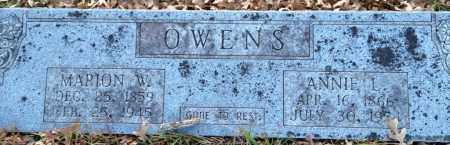 OWENS, ANNIE L - Saline County, Arkansas | ANNIE L OWENS - Arkansas Gravestone Photos