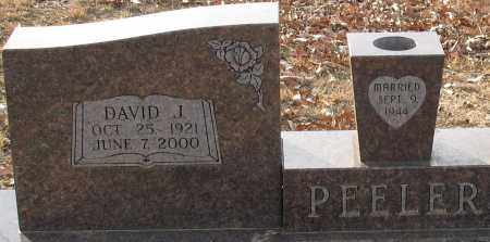 PEELER, DAVID J. (CLOSEUP) - Saline County, Arkansas | DAVID J. (CLOSEUP) PEELER - Arkansas Gravestone Photos