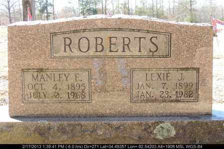 ROBERTS, LEXIE J - Saline County, Arkansas | LEXIE J ROBERTS - Arkansas Gravestone Photos