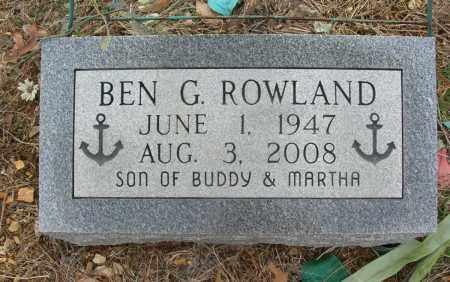 ROWLAND, BEN G - Saline County, Arkansas | BEN G ROWLAND - Arkansas Gravestone Photos