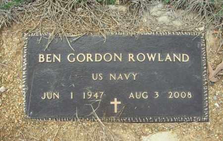 ROWLAND (VETERAN), BEN GORDON - Saline County, Arkansas | BEN GORDON ROWLAND (VETERAN) - Arkansas Gravestone Photos