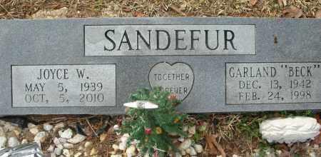 SANDEFUR, JOYCE W - Saline County, Arkansas   JOYCE W SANDEFUR - Arkansas Gravestone Photos