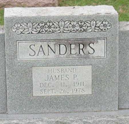 SANDERS, JAMES P. (CLOSEUP) - Saline County, Arkansas | JAMES P. (CLOSEUP) SANDERS - Arkansas Gravestone Photos